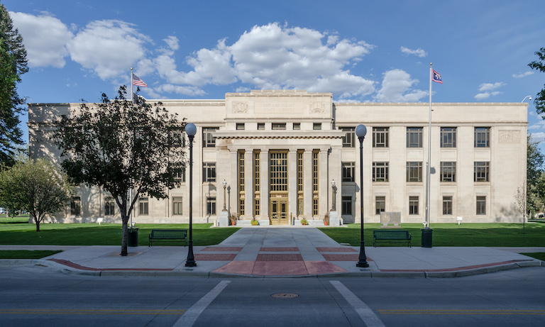 Wyoming Supreme Court Building, Cheyenne, Southwest view