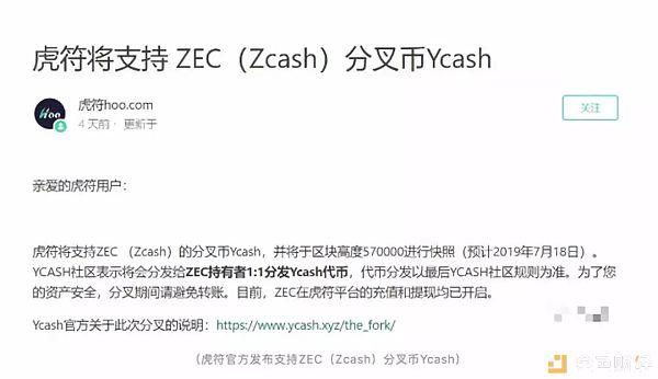 Zcash分叉 市场无感