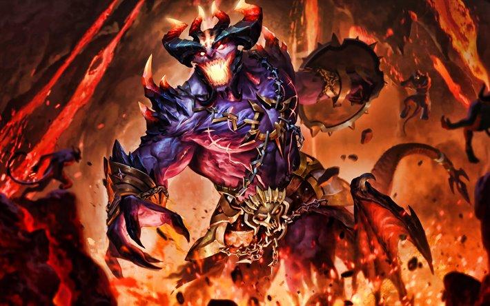 Infernal Lord Zeus, 4k, Smite God, 2019 games, Smite, MOBA, Smite characters, monster, Infernal Lord Zeus Smite